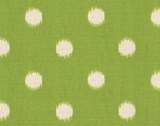 Premier Prints Ikat Dots Grasshopper Green Natural