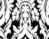 Robert Allen Bhuj Damask Black White