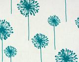 Premier Prints Dandelion - White/True Turquoise